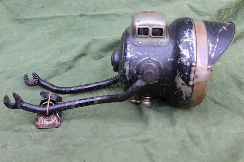 POWELL & HAMMER 1920's motorfiets carbid lamp motorcycle acetylene lamp motorrad karbid lampe