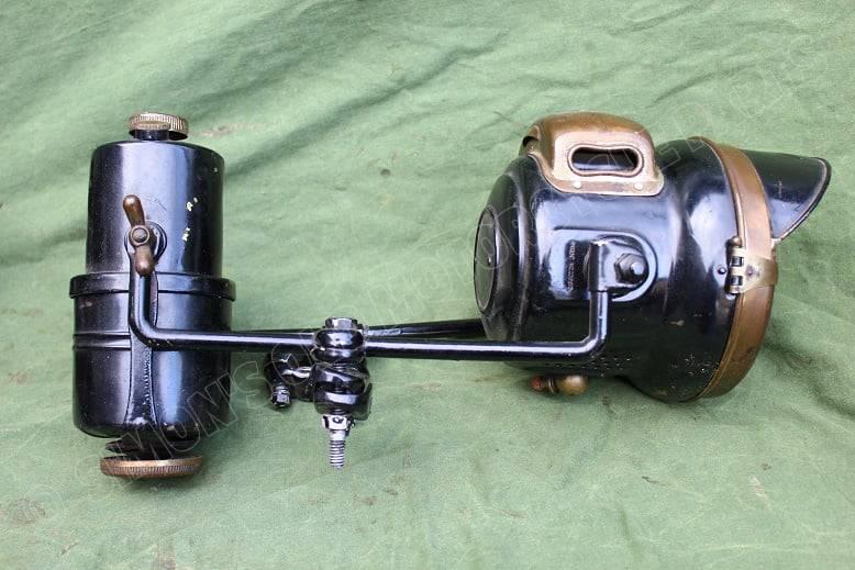 POWELL & HAMMER carbidlamp set acetylene set motorrad karbid lamp und behalter