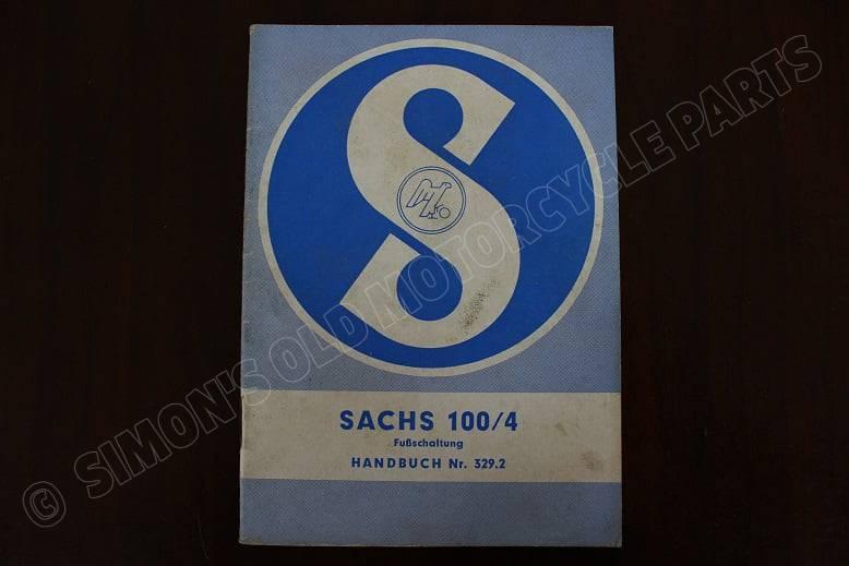 SACHS 100/4 fuss schaltung handbuch 97 cc 4 versnelling instructie boekje