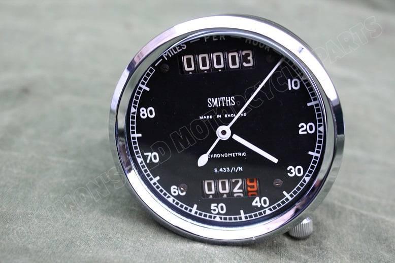 SMITHS S433/1/N 80 miles chronometric speedometer mijlenteller tacho