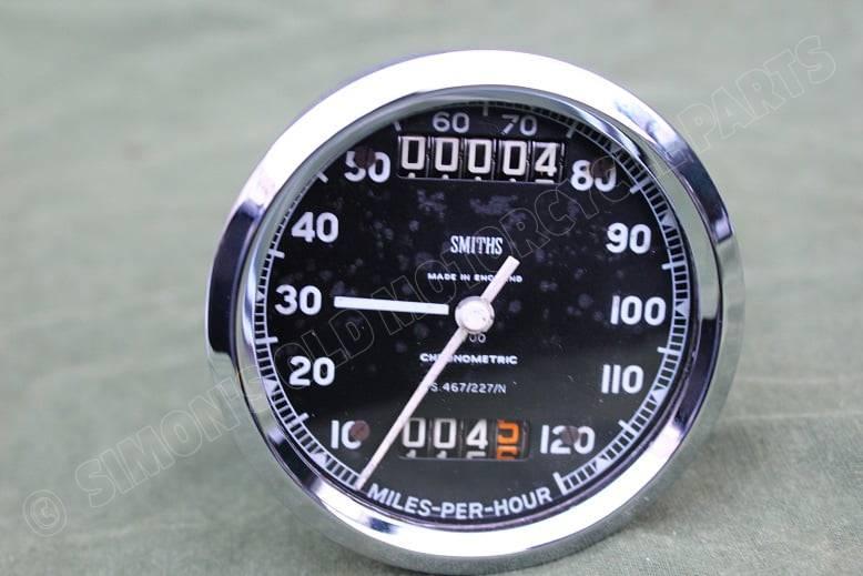 SMITHS S467/227/N 120 Miles chronometric speedometer tacho mijlenteller