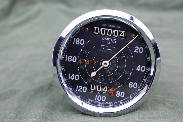 SMITHS S467/23/L 180 KM TRIUMPH chronometric kilometer teller tacho speedometer