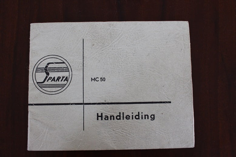 SPARTA MC 50 met Pluvier motor 1959 instructie boekje owner's manual