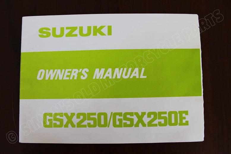 SUZUKI GSX250 GSX 250 E 1979 owner's manual