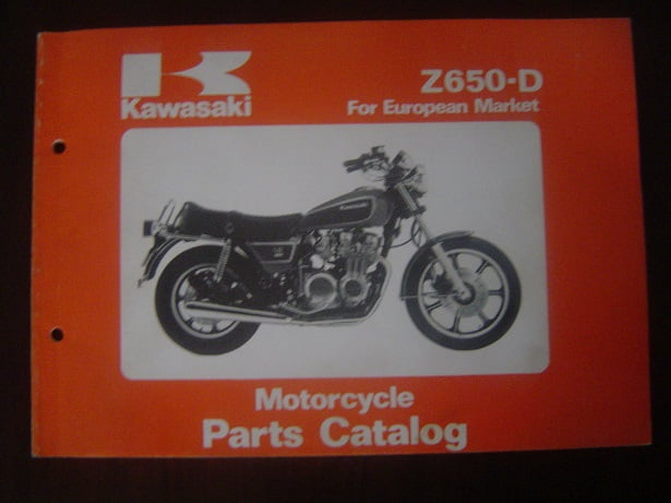 KAWASAKI Z650-D 1979 motorcycle parts catalogue Z 650
