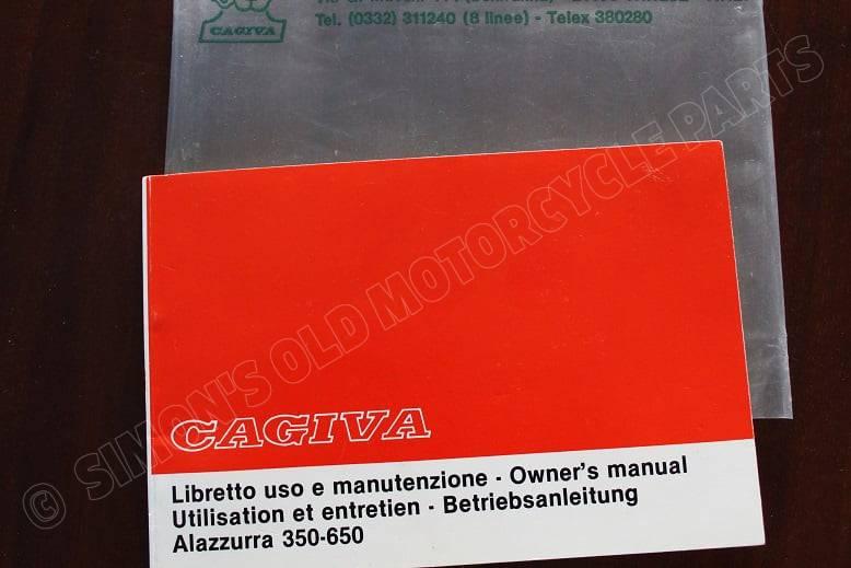 CAGIVA ALAZZURRA 350 – 650 owner's manual betriebsanleitung