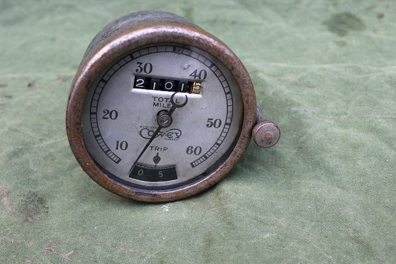 COWEY 60 1920's mijlenteller 60 Mls speedometer tacho met trip