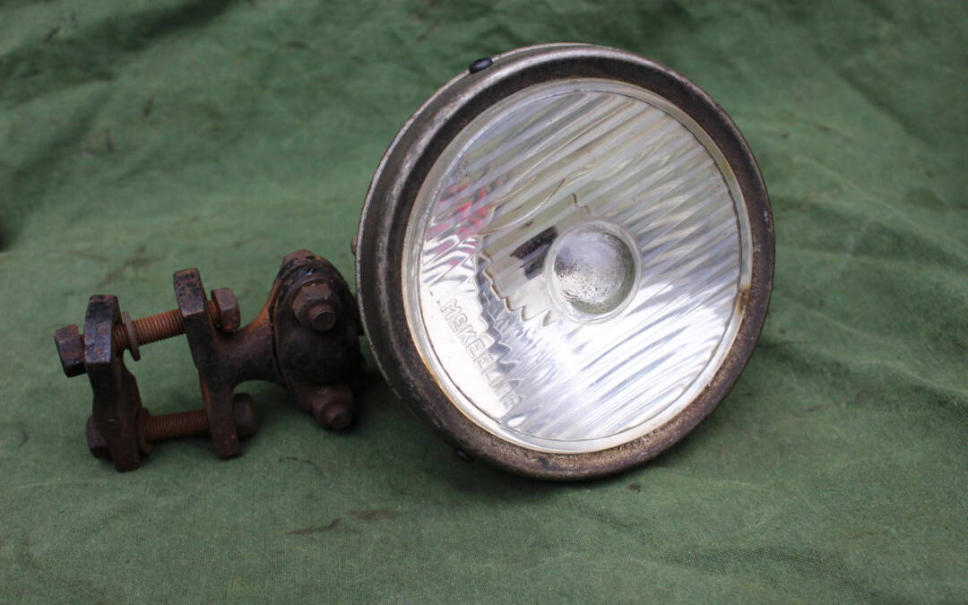 McKEELITE 1930's auto zoek lamp  pkw scheinwerfer carlamp Mckeelite spotlight