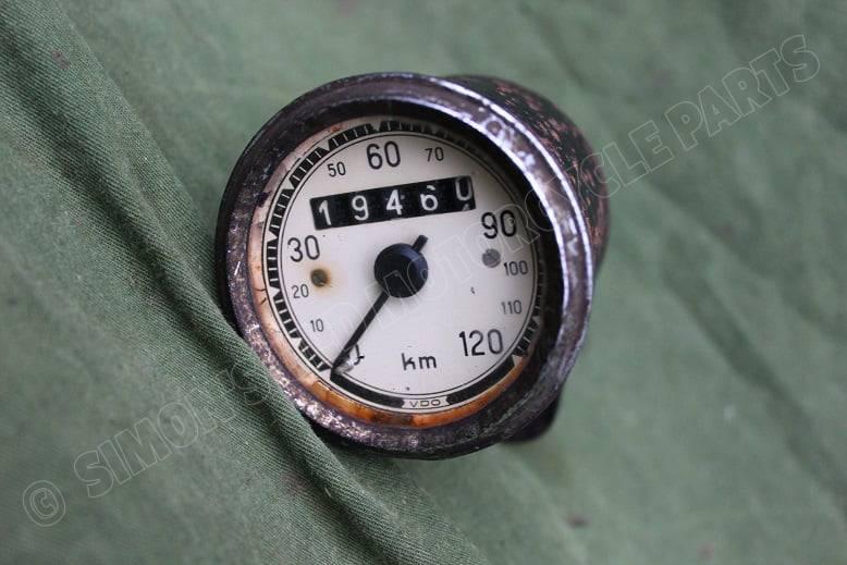 VDO 120 KM kilometerteller speedometer tacho 1940's NSU DKW ??