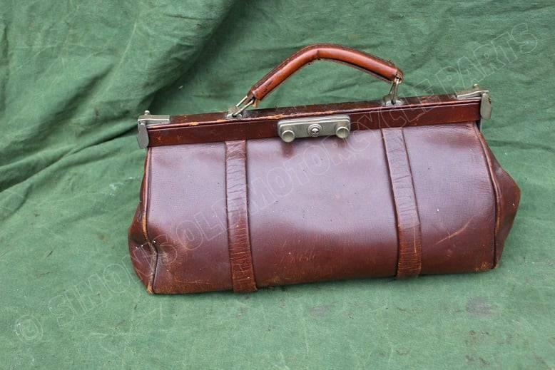 dokters tas veteran leather motorcycle doctor's bag