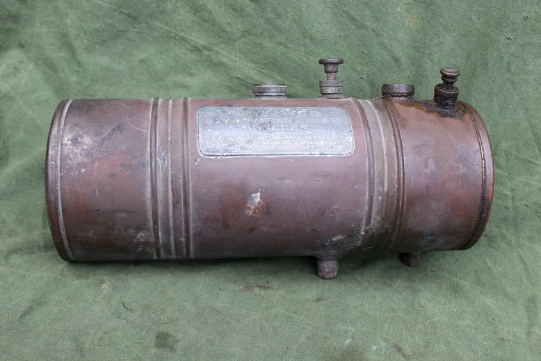 FLOTTWEG 1920's hulpmotor cyclemotor hilfsmotor benzine /olie tank petroltank benzintank