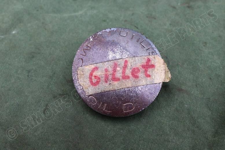 GILLET 1930's olie dop oil cap oell deckel motorrad motorcycle