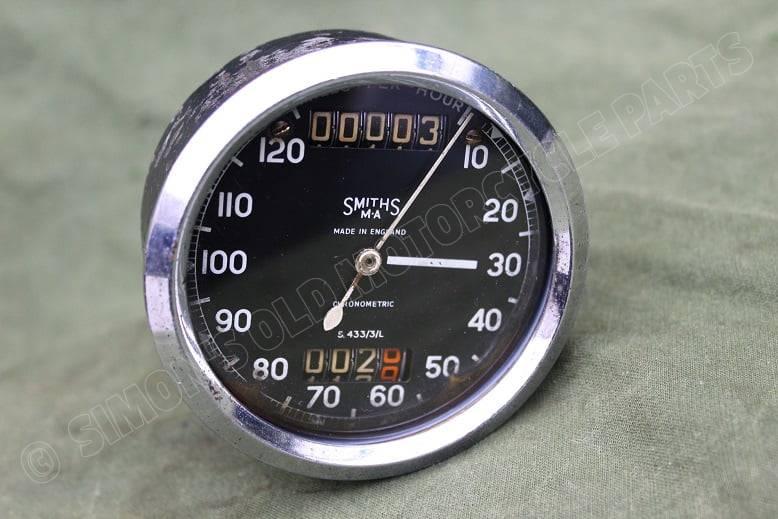 SMITHS S433/3/L 120 Mls chronometric speedometer mijlenteller tacho