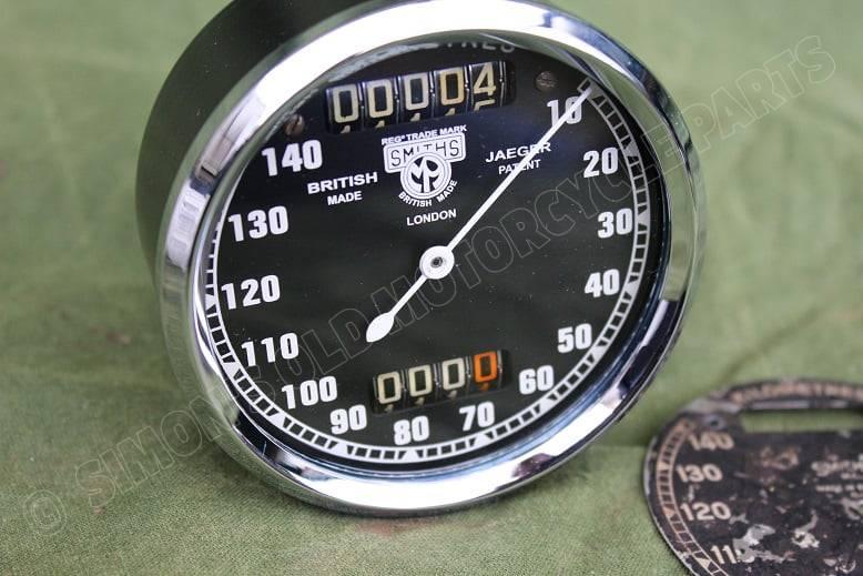 SMITHS S433/5/L 140 km chronometric kilometer teller speedometer tacho