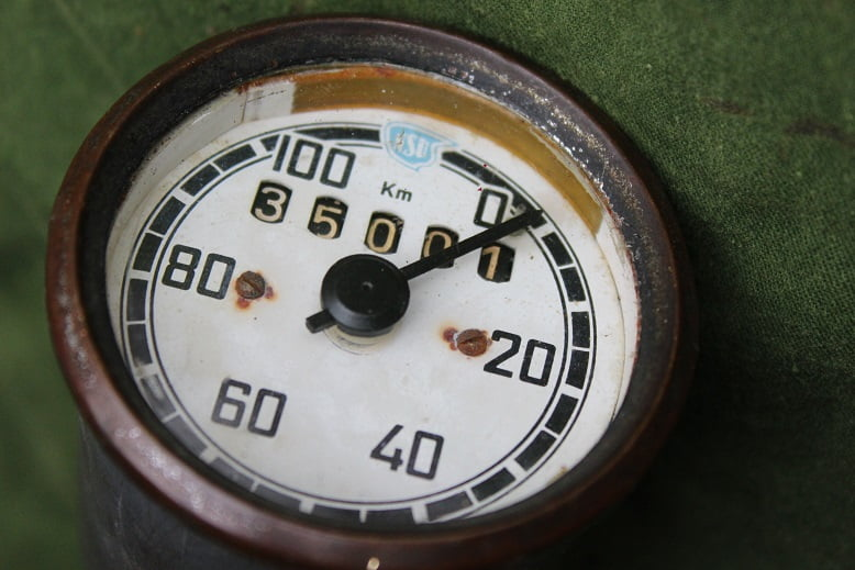 NSU VEIGEL 100 KM kilometer teller tacho speedometer 1951