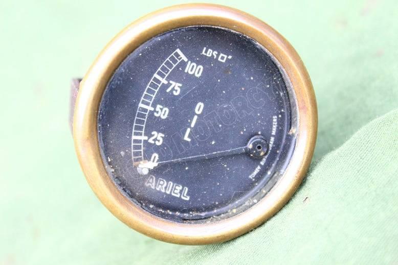 ARIEL Tomey Birmingham 100 Lbs olie drukmeter oil gauge oell messer