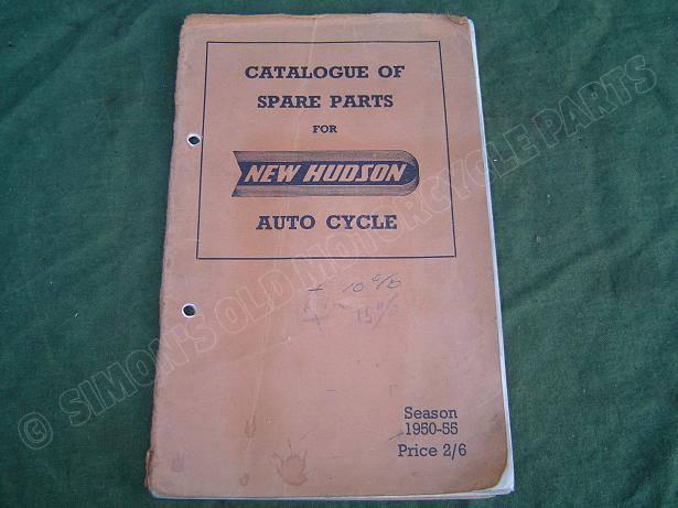NEW HUDSON 1950 / 1955  autocycle spare parts catalogue