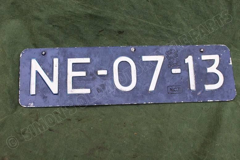 jaren 50 voorspatbord nummer bord 1950's front mudgard licence plate