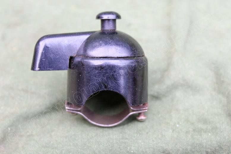 bakelieten schakelaar met toeterknop 1930's bakelite switch with horn push