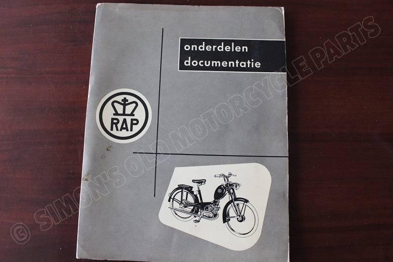 RAP bromfiets 1955 onderdelen documentatie REX motor