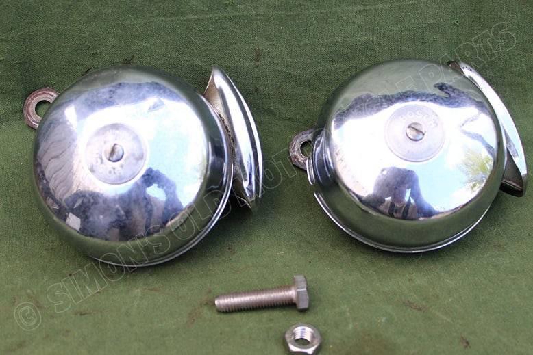 BOSCH 6 volt claxon set HO/ECA 7112 & 7113 Hoch & Tief  hupen horns BMW ??