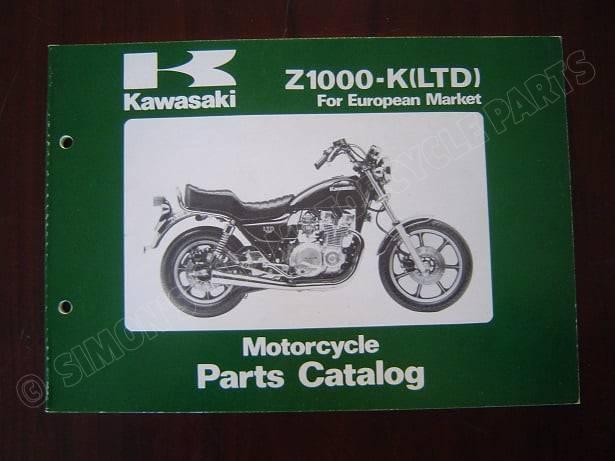 KAWASAKI Z1000 K LTD 1981 parts catalog Z 1000 onderdelen boekje teile katalog