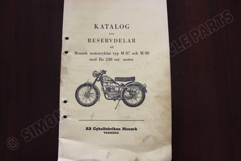 MONARK M87 M88 met JLO 150 cc motor onderdelen boekje parts list