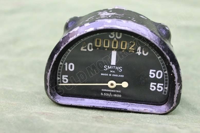 SMITHS S531/L 1600 55 MPH D type chronometric mijlenteller speedometer tacho HELD reserved