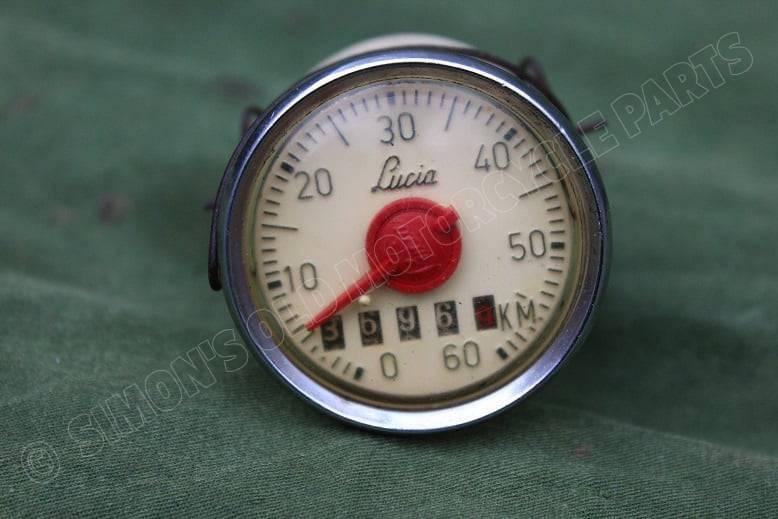 LUCIA 60 KM kilometer bromfiets teller moped speedometer moped tacho 1950's