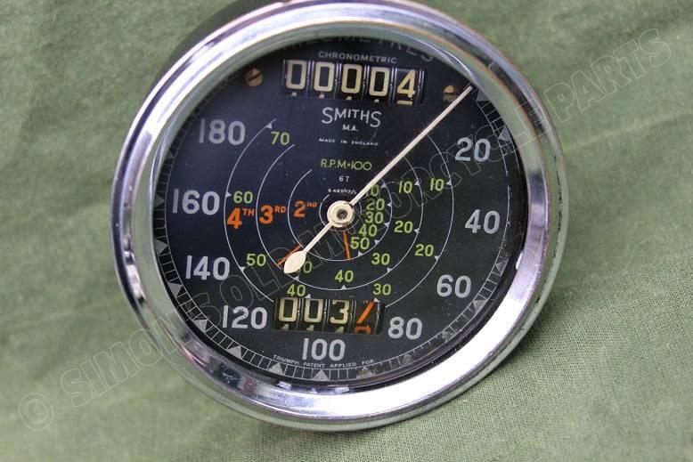 SMITHS S467/47/L 180 KM chronometric  kilometer teller tacho speedometer Triumph 6T