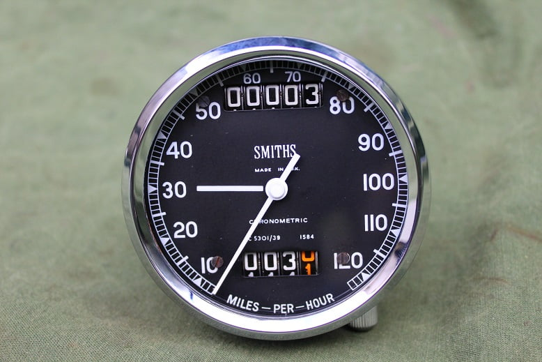 SMITHS SC 5301/39 chronometric 120 mph speedometer tacho mijlenteller BSA A50 A60 Police