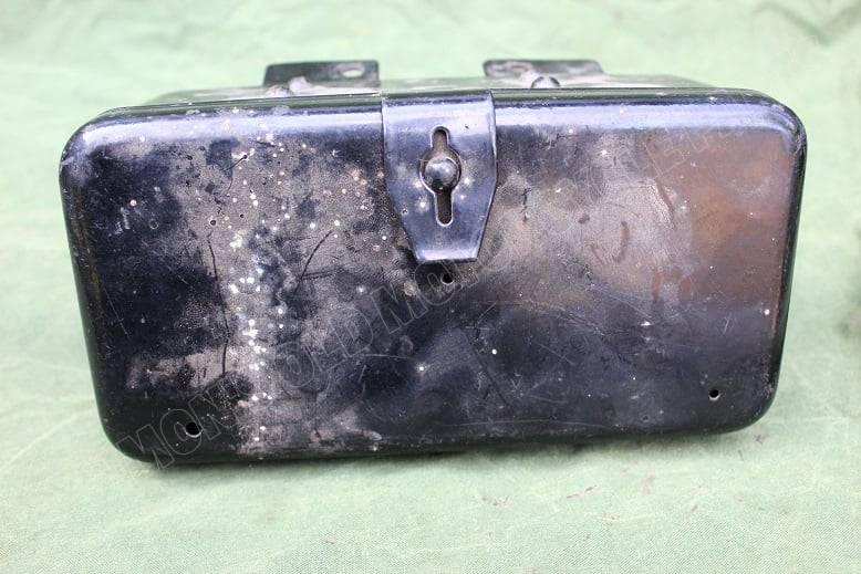 motorfiets gereedschap kastje / trommel jaren 30/40 motorcycle toolbox