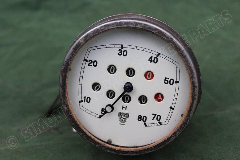 SMITHS 80 miles speedometer  mijlenteller tacho 1930's / 1940's