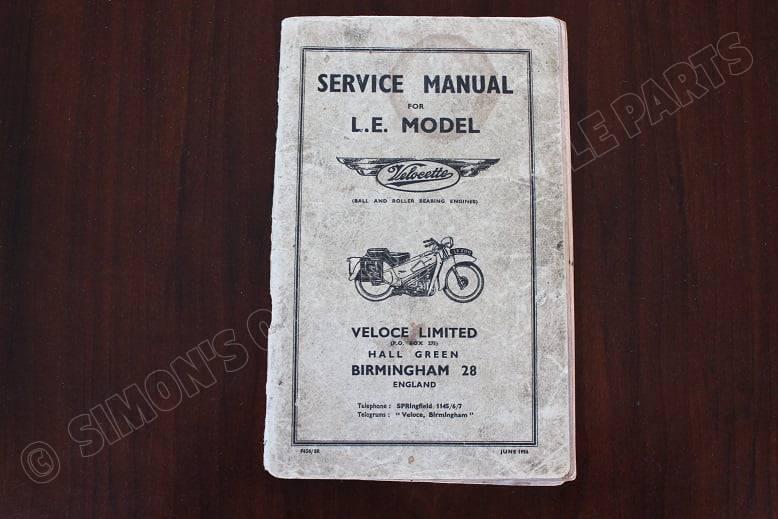 VELOCETTE 1956 L.E. model service manual