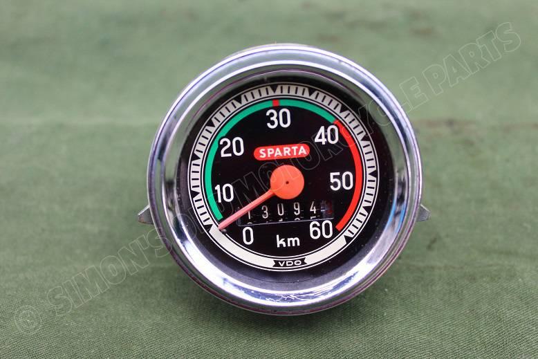 SPARTA 60 KM 1969 kilometer teller bromfiets moped speedometer tacho